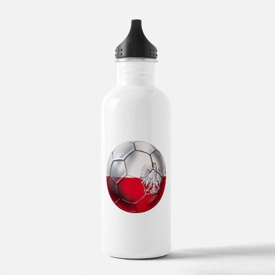 Poland Football Water Bottle