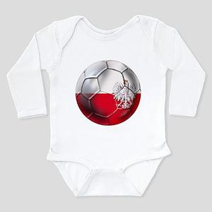 Poland Football Long Sleeve Infant Bodysuit