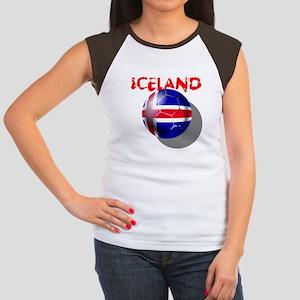 Icelandic Soccer Women's Cap Sleeve T-Shirt