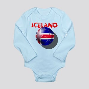Icelandic Soccer Long Sleeve Infant Bodysuit