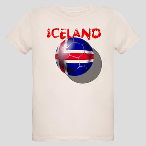 Icelandic Soccer Organic Kids T-Shirt