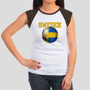 Sweden Football Junior's Cap Sleeve T-Shirt