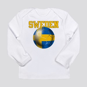 Sweden Football Long Sleeve Infant T-Shirt