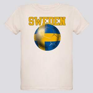 Sweden Football Organic Kids T-Shirt
