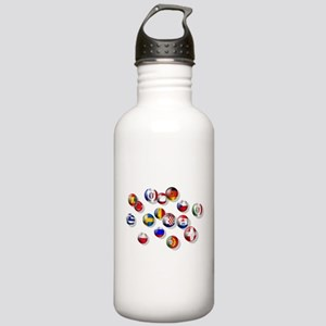 European Football Stainless Water Bottle 1.0L