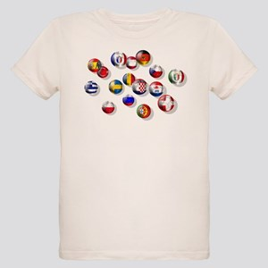 European Football Organic Kids T-Shirt