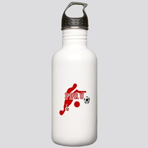 Peru Football Player Stainless Water Bottle 1.0L