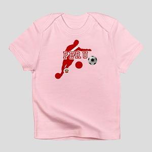 Peru Football Player Infant T-Shirt