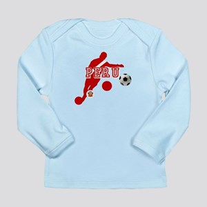 Peru Football Player Long Sleeve Infant T-Shirt