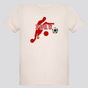 Peru Football Player Organic Kids T-Shirt