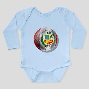 Peru Futbol Long Sleeve Infant Bodysuit