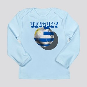Uruguay Soccer Ball Long Sleeve Infant T-Shirt