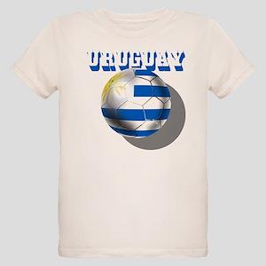 Uruguay Soccer Ball Organic Kids T-Shirt