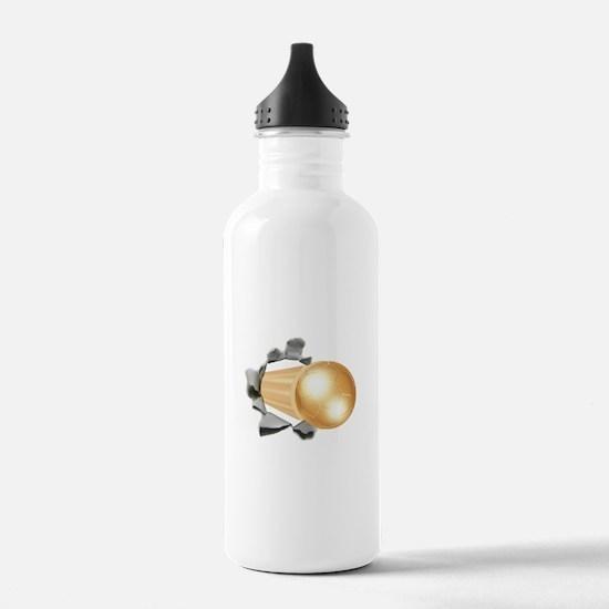 Gold Soccer Ball Water Bottle