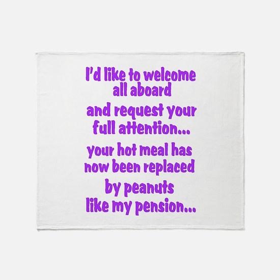 attention purple Throw Blanket