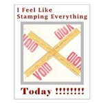 Stamped Void Small Poster