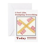 Stamped Void Greeting Cards (Pk of 20)