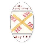 Stamped Void Sticker (Oval 10 pk)