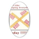 Stamped Void Sticker (Oval 50 pk)