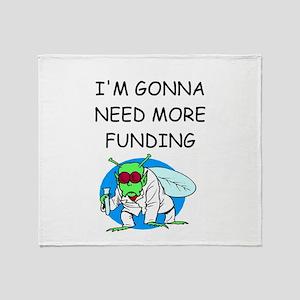 Medical research joke Throw Blanket