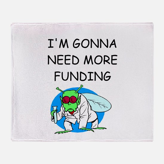 Medical research joke Throw Blanket