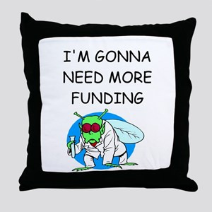Medical research joke Throw Pillow