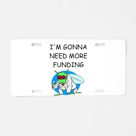 Medical research joke Aluminum License Plate