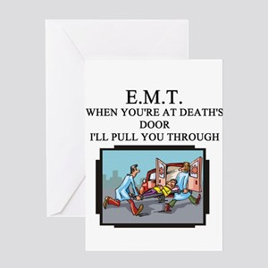 emt paramedic joke Greeting Card