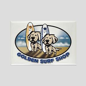 Golden Surf Shop Rectangle Magnet