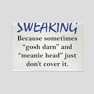 Swearing Rectangle Magnet
