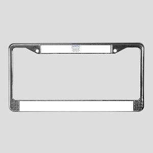 Swearing License Plate Frame