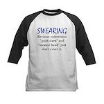 Swearing Kids Baseball Jersey