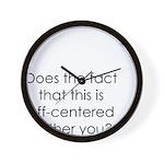 Off Center Wall Clock