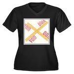 Void Women's Plus Size V-Neck Dark T-Shirt