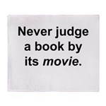 Judge Book Throw Blanket