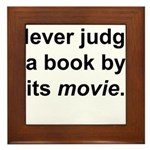 Judge Book Framed Tile