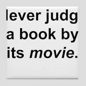Judge Book Tile Coaster