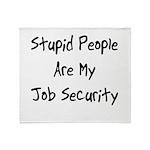 Job Security Throw Blanket