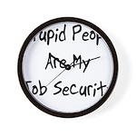 Job Security Wall Clock