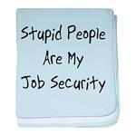 Job Security baby blanket