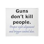Guns Trigger Throw Blanket