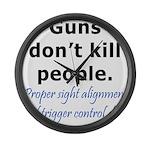 Guns Trigger Large Wall Clock