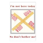 I'm not here Postcards (Package of 8)