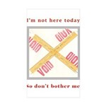 I'm not here Sticker (Rectangle 10 pk)