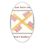 I'm not here Sticker (Oval 10 pk)