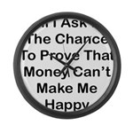 Chance Money Large Wall Clock