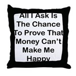 Chance Money Throw Pillow