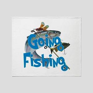 Going Fishing Throw Blanket