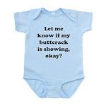 Buttcrack Showing Infant Bodysuit