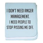 Anger Management baby blanket